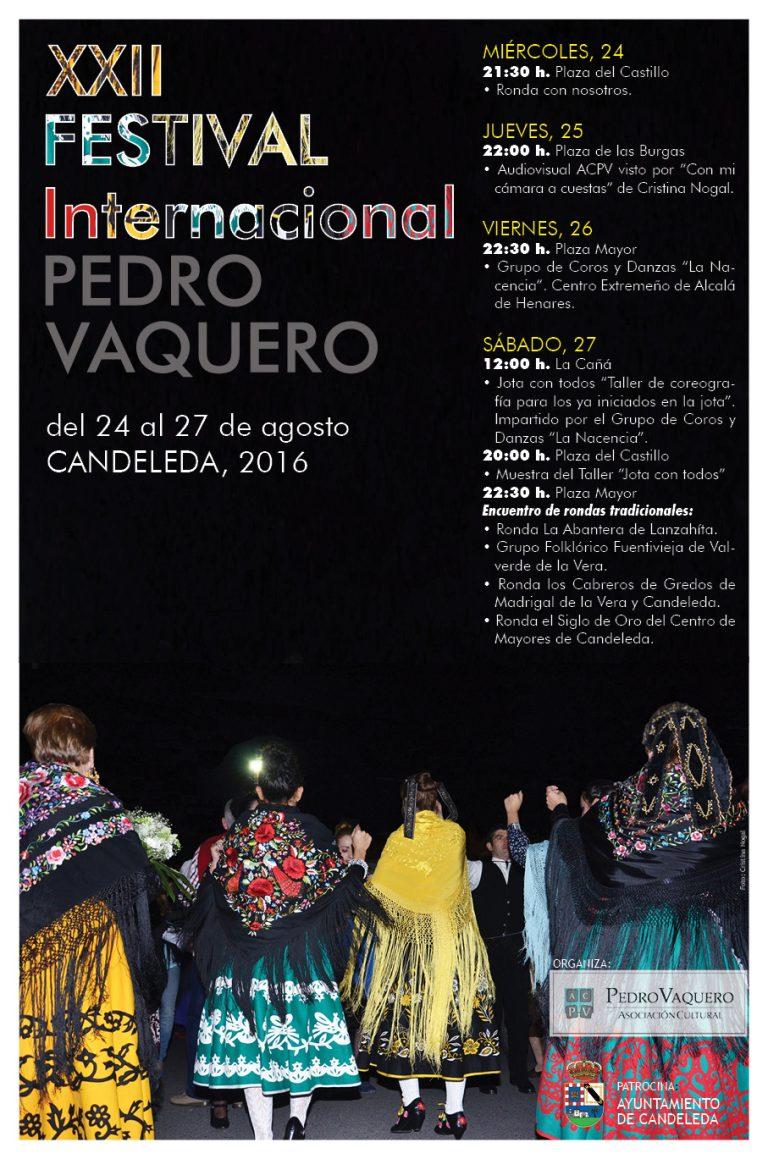 Cartel anunciador del XXII Festival Internacional Pedro Vaquero 2016